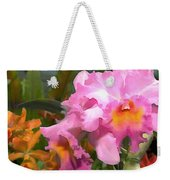 Colorful Assorted Cattleya Orchids Weekender Tote Bag