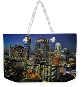 Colorful Austin Skyline At Night Weekender Tote Bag