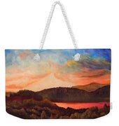 Colorful Autumn Sunset Weekender Tote Bag