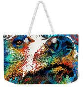 Colorful Bear Art - Bear Stare - By Sharon Cummings Weekender Tote Bag