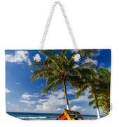 Colorful Bench On Caribbean Coast Weekender Tote Bag