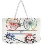 Colorful Bike Art - Vintage Patent - By Sharon Cummings Weekender Tote Bag