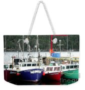 Colorful Boats Tied Up To The Wharf Weekender Tote Bag