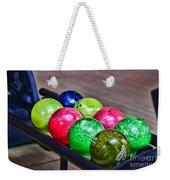 Colorful Bowling Balls Weekender Tote Bag