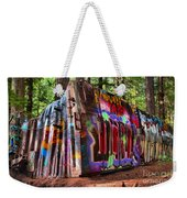 Colorful Box Car In The Forest Weekender Tote Bag