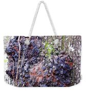 Colorful Wood Burl Weekender Tote Bag