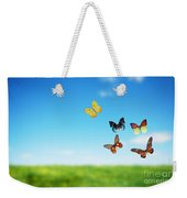 Colorful Buttefly Spring Field Weekender Tote Bag