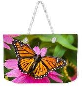Orange Viceroy Butterfly Weekender Tote Bag