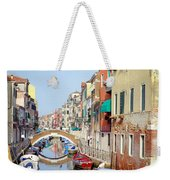 Colorful Canal Weekender Tote Bag