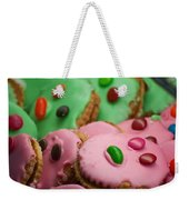 Colorful Candy Faces Weekender Tote Bag