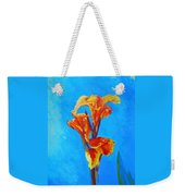 Colorful Canna Weekender Tote Bag