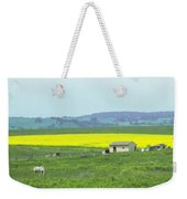 Colorful Canola Field Weekender Tote Bag