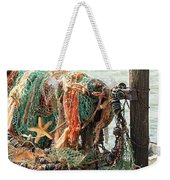 Colorful Catch - Starfish In Fishing Nets Weekender Tote Bag