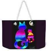 Colorful Cats And The Moon Weekender Tote Bag