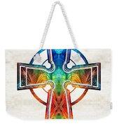 Colorful Celtic Cross By Sharon Cummings Weekender Tote Bag