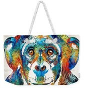 Colorful Chimp Art - Monkey Business - By Sharon Cummings Weekender Tote Bag