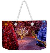 Colorful Christmas Lights On Trees Weekender Tote Bag