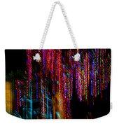 Colorful Christmas Streaks - Abstract Christmas Lights Series Weekender Tote Bag