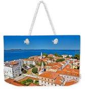 Colorful City Of Zadar Rooftops  Towers Weekender Tote Bag