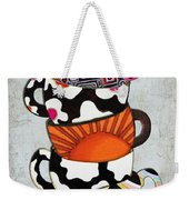 Colorful Coffee Cups Mugs Hot Cuppa Stacked I By Romi And Megan Weekender Tote Bag by Megan Duncanson