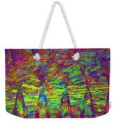 Colorful Computer Generated Abstract Fractal Flame Weekender Tote Bag