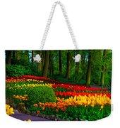 Colorful Corner Of The Keukenhof Garden 4. Tulips Display. Netherlands Weekender Tote Bag