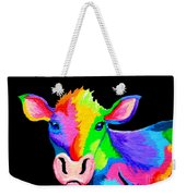 Colorful Cow-cow-a-bunga Weekender Tote Bag
