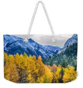 Colorful Crested Butte Colorado Weekender Tote Bag