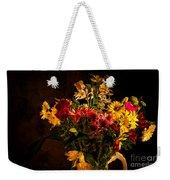 Colorful Cut Flowers In A Vase Weekender Tote Bag
