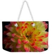 Colorful Dahlia Weekender Tote Bag