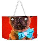Colorful Dapper Pug Weekender Tote Bag