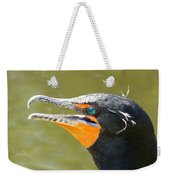 Colorful Double-crested Cormorant Weekender Tote Bag