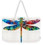 Colorful Dragonfly Art By Sharon Cummings Weekender Tote Bag