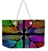 Colorful Feather Fern - 4 X 4 - Abstract - Fractal Art - Square Weekender Tote Bag