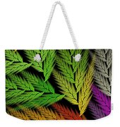 Colorful Feather Fern - Abstract - Fractal Art - Square - 1 Tl Weekender Tote Bag