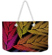 Colorful Feather Fern - Abstract - Fractal Art - Square - 2 Tr Weekender Tote Bag