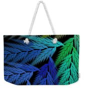 Colorful Feather Fern - Abstract - Fractal Art - Square - 3 Ll Weekender Tote Bag