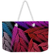 Colorful Feather Fern - Abstract - Fractal Art - Square - 4 Lr Weekender Tote Bag