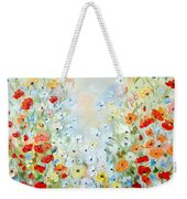 Colorful Field Of Poppies Weekender Tote Bag