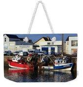 Colorful Fishing Boats Weekender Tote Bag