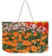 Colorful Flower Bed Weekender Tote Bag