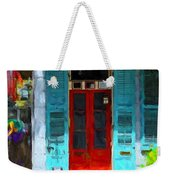 Colorful French Quarter Door  Weekender Tote Bag