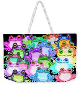 Colorful Frogs Weekender Tote Bag