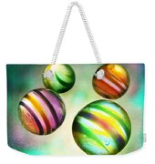 Colorful Glass Marbles Weekender Tote Bag