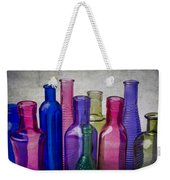 Colorful Group Of Bottles Weekender Tote Bag