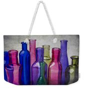 Colorful Group Of Bottles Weekender Tote Bag