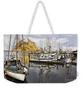 Colorful Harbor II Impasto Weekender Tote Bag