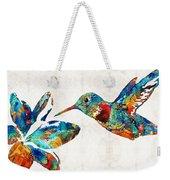Colorful Hummingbird Art By Sharon Cummings Weekender Tote Bag