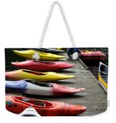 Colorful Kayaks At Whistler Bc Weekender Tote Bag