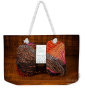 Colorful Knitting Yarn In A Wooden Box Weekender Tote Bag